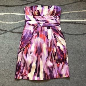Max and Cleo strapless short dress purple pink 8